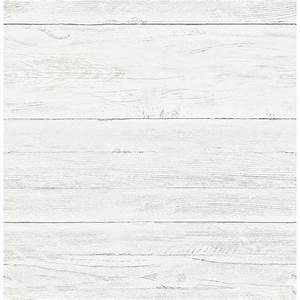 Shiplap White Washed Boards - Wallpaper by A - Streets Prints