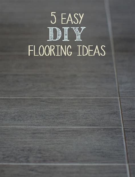5 Easy DIY Flooring Ideas   Painted Furniture Ideas