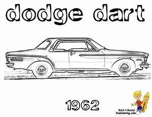 brawny muscle car coloring pages american muscle cars With 1966 dodge dart gts