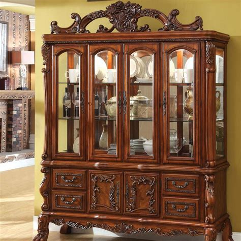 antique china cabinet styles medieve english style antique oak finish formal china