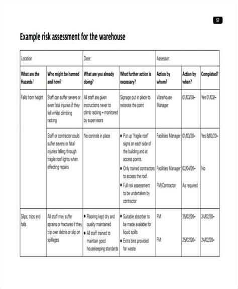 risk assessment template 31 risk assessment templates in pdf free premium templates