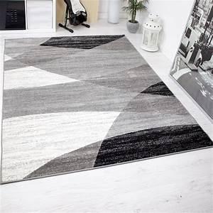 Teppich Muster Schwarz Weiß : teppich wohnzimmer modern geometrisches muster meliert in grau wei schwarz neu ebay ~ Bigdaddyawards.com Haus und Dekorationen