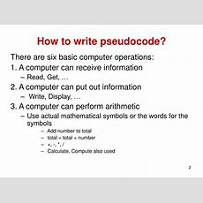Ppt  What Is Pseudocode? Powerpoint Presentation Id497332