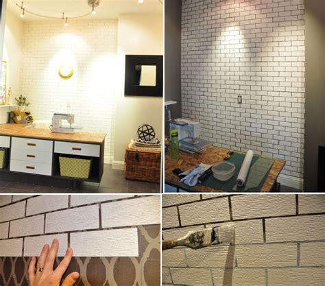 simple ways  recreate    real exposed brick walls