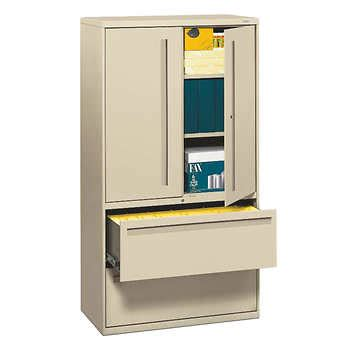 costco outdoor storage cabinet hon 700 series 36 quot w lateral storage cabinet putty