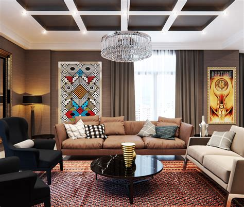 A Stylish Apartment With Classic Design Features a stylish apartment with classic design features