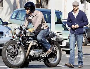 Photos of Ryan Reynolds Riding Around LA on His Motorcycle ...