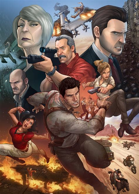 Uncharted 3 Patrick Brown Art