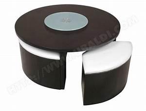 Table Basse Avec Pouf Pas Cher : table basse pouf intgr pas cher meuble de salon contemporain ~ Teatrodelosmanantiales.com Idées de Décoration