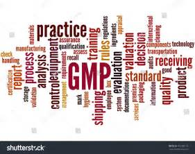 Gmp Good Manufacturing Practice Word Cloud Stock