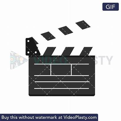 Board Clapper Gifs Animated Hollywood Animation Boards