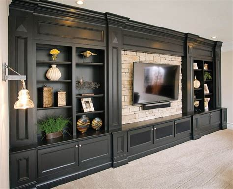 wall unit fireplace modern ideas units built gorgeous entertainment center by c w custom woodworking in