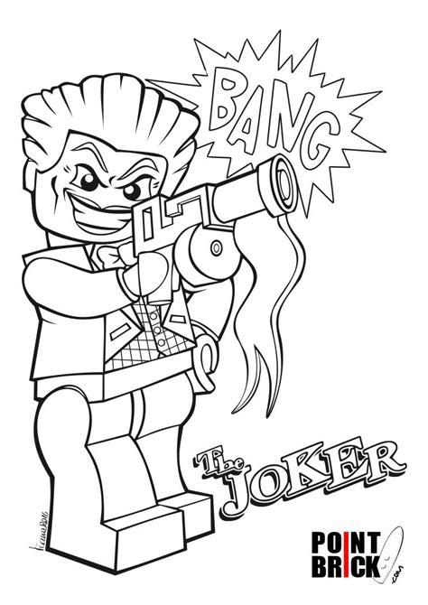 disegni da colorare lego dc harley quinn  joker