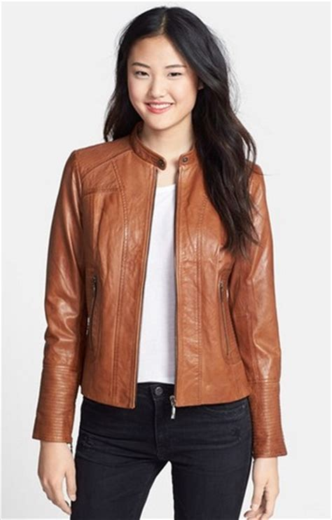 copy dobrev s brown leather jacket from quot the