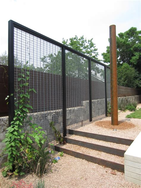 steel garden screens modern trellis with creeper to act as garden room divider cameras and accessories pinterest