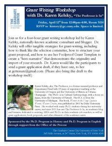 412  Grant Writing Workshop With Dr Karen Kelsky