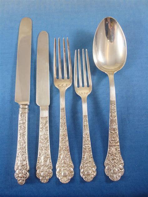sterling silver gorham flatware medici pieces service mobile