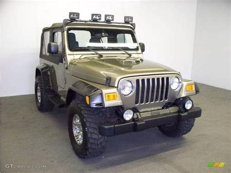 jeep metallic 2003 light khaki metallic jeep wrangler sport 4x4
