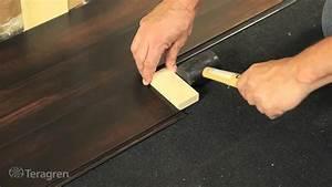 How to install bamboo teragren drop lock strand bamboo for Installing click lock flooring