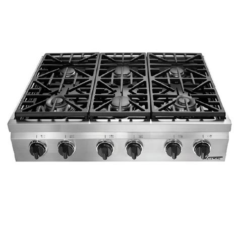 Dacor Gas Cooktop by Shop Dacor Distinctive 6 Burner Gas Cooktop Stainless