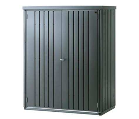 armario metalico biohort alto jardin color gris oscuro