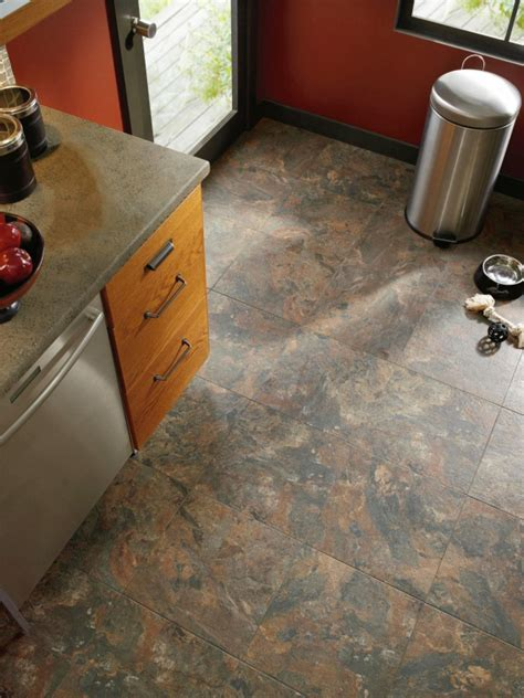 vinyl tile kitchen flooring vinyl flooring in the kitchen hgtv 6908