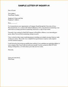 5 inquiry letter for school pandora squared With cover letter inquiry about employment possibilities