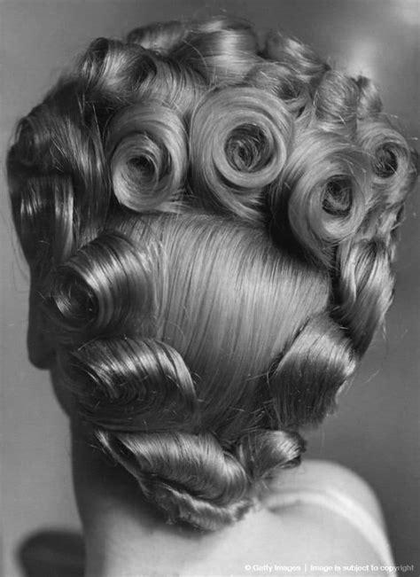 sensational pin curls  black hair  rock