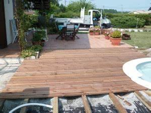 terrasse en bois composite prix pose nos conseils With prix terrasse bois posee