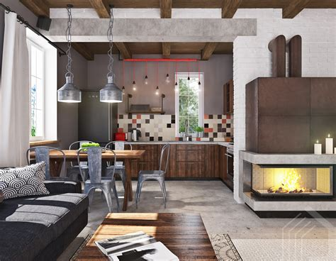 Design Wohnung by Studio Apartment Design With Industrial Decor Looks So