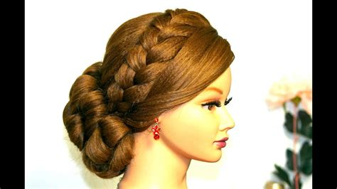 Wedding Prom Hairstyle For Long Hair. Updo With French
