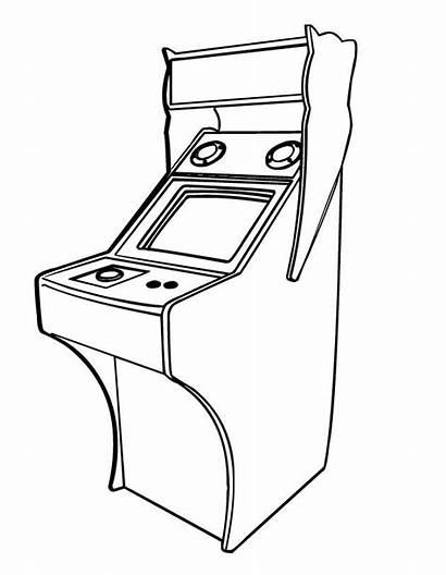 Coloring Arcade Pages Games Colouring Printable Drawing