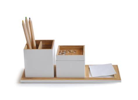 set de bureau design accessoires de bureau en bois