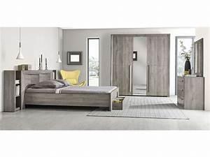 Chambre A Coucher Conforama : commode 3 tiroirs eden coloris ch ne gris vente de ~ Melissatoandfro.com Idées de Décoration