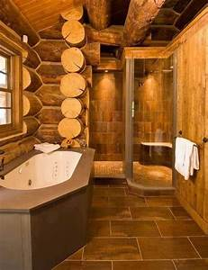 amazing bathroom for a log cabin home pinterest With log cabins with bathrooms