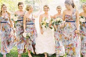 floral print bridesmaid dresses With floral print wedding dress