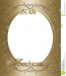 wedding anniversary photo frames 50th wedding anniversary frame stock image image 5527671