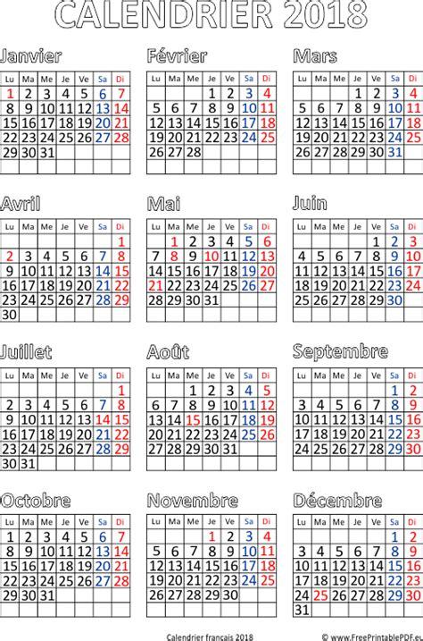 calendrier francais  impression gratuit  imprimable