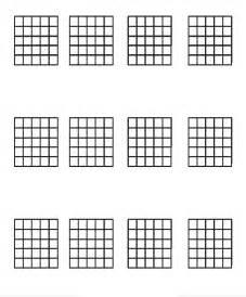 Blank Guitar Chord Chart PDF