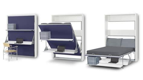 bureau de lit lit bureau pliable 2 places matrix gagnez du rangement