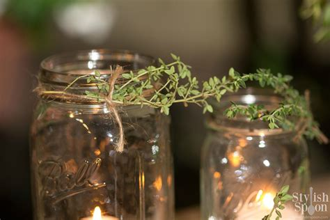 jar candle holders diy herb jar candle holders stylish spoon