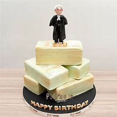 Barrister Lawyer Cash Tower Birthday Celebration Cake