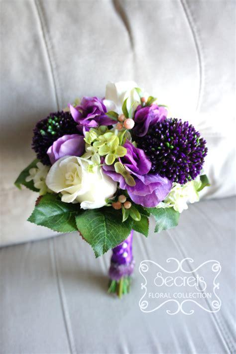 Artificial (softtouch) Cream Roses, Allium, Lavender