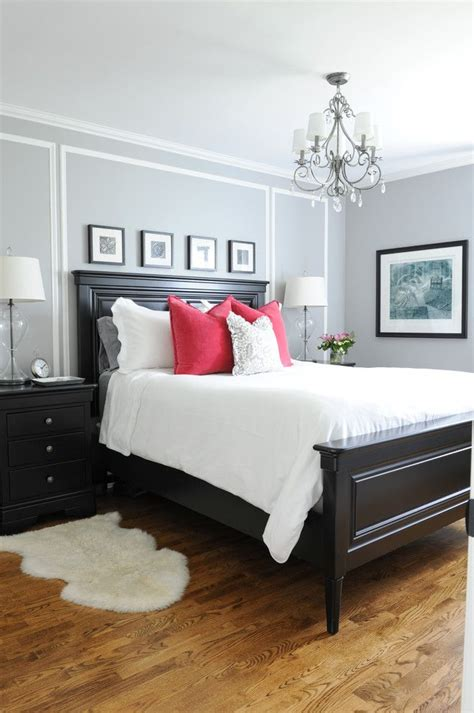 Master Bedroom Decor Black And White by Master Bedroom With His And Hers Nightstands Gray Walls