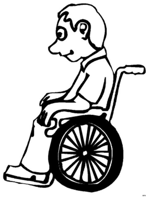 mann im rollstuhl ausmalbild malvorlage comics