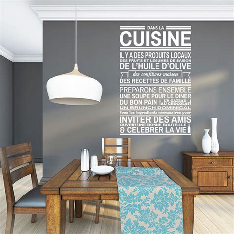 sticker mural cuisine dans la cuisine vinyl wall stickers wall decals