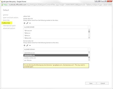 Office 365 Mail List by How Do I Whitelist Domains In Office 365 Exchange Admin