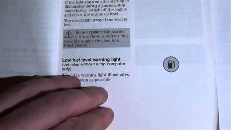 ford focus dashboard warning lights symbols youtube
