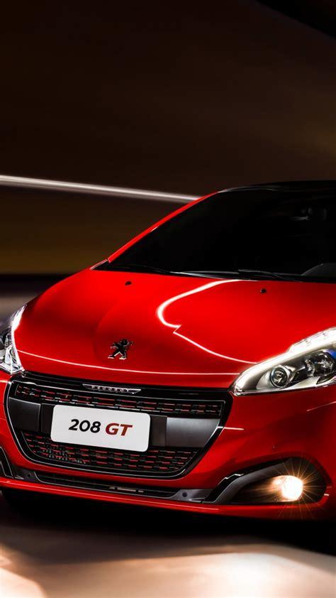 wallpaper peugeot  gt hatchback red clouds cars