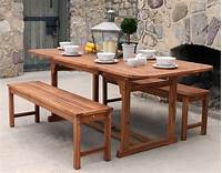 nice wood patio table The Best Outdoor Furniture Materials for Where You Live {with Infographic}